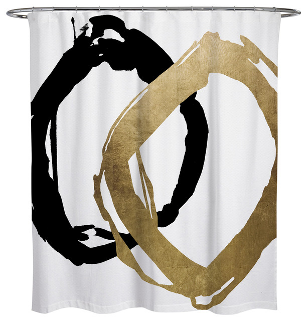 "Oliver Gal ""Equal"" Shower Curtain"