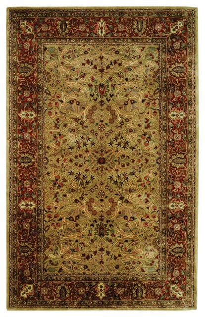 Persian Legend Yellow Maroon Area Rug Pl511a Traditional