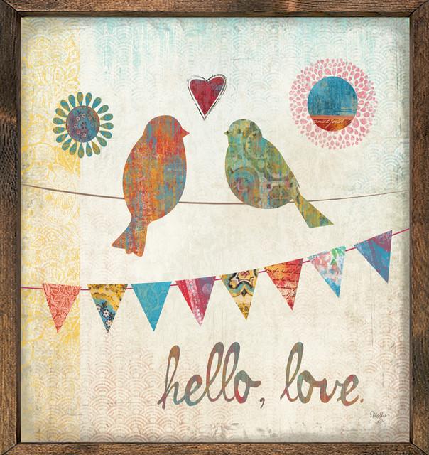 hello love birds art print 12 x12 contemporary prints and