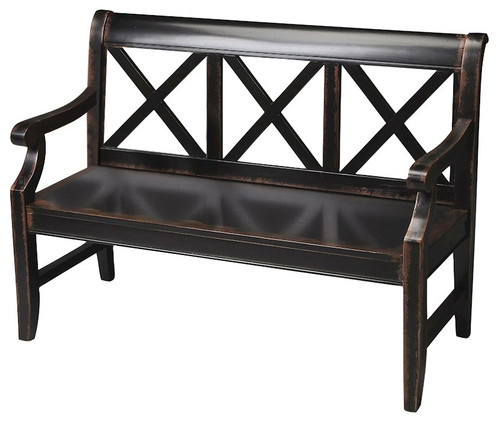 Butler Specialty Masterpiece Transitional Bench in Midnight Rose