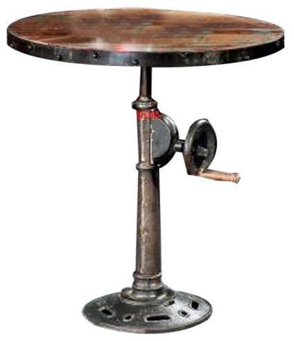 Adjustable Pub Table Industrial Indoor Pub And Bistro Tables