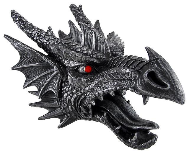 Fierce And Menacing Saurian Hanging Dragon Head