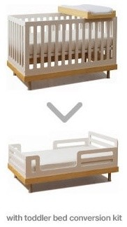 Oeuf Classic Toddler Bed Conversion Kit modern-bed-rails