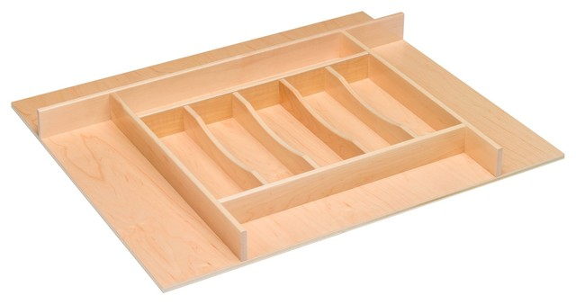Century Components Wood Silverware Tray Drawer Organizer