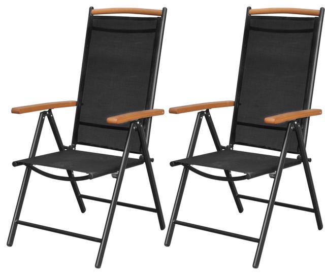 Vidaxl Folding Garden Chairs Black Contemporary Dining By Vida Xl International B V