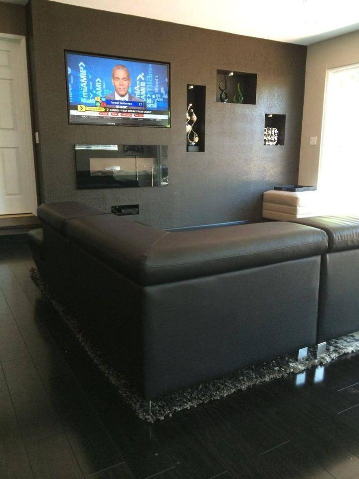 Custom Built in Living Room Wall