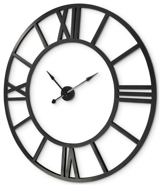 Mercana Stoke Round Giant Oversized Industrial Wall Clock 68529 Industrial Wall Clocks By Hedgeapple