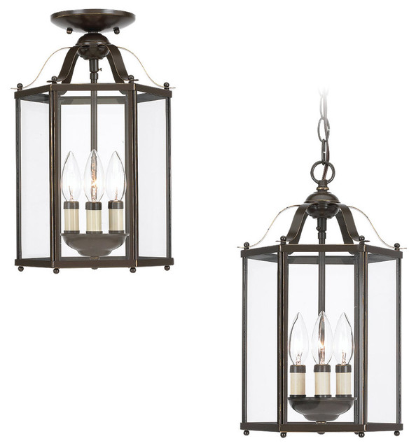 Bretton 3 Light Pendants In Heirloom Bronze Traditional Outdoor Hanging Lights