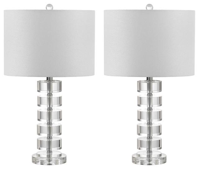 "Safavieh Frances 25"" High Table Lamp, Set Of 2."