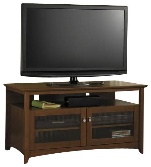 Bush - Bush Buena Vista TV Stand in Serene Cherry & Reviews | Houzz