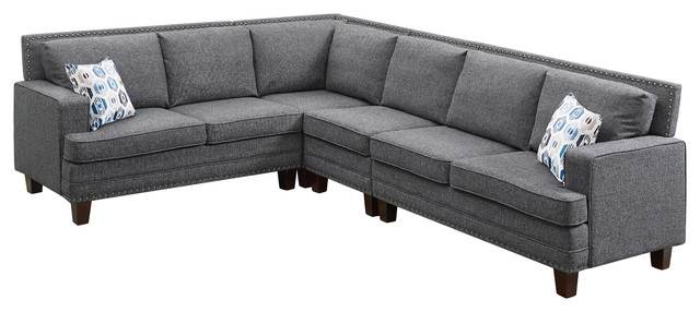 Cotton Blended Fabric Sectional Sofa
