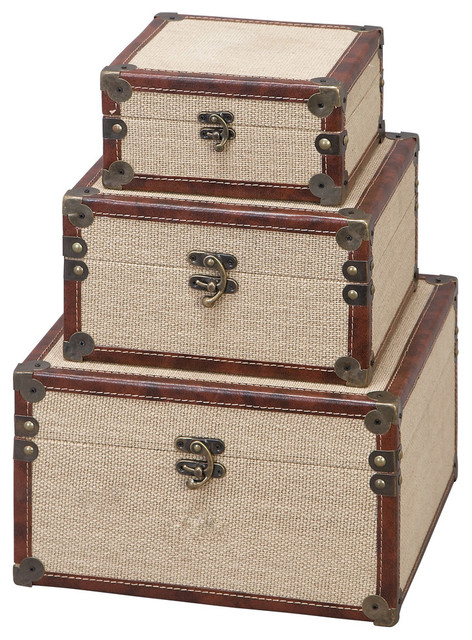 Bon Voyage Decorative Boxes, Set Of 3.