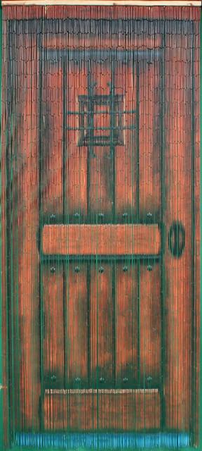Brown Wood Door Bead Curtain 125 Strands - Tropical - Curtains ...