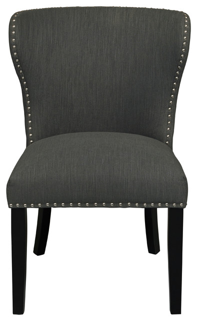 Modified Wing Back Accent Chair, Dupree Steel