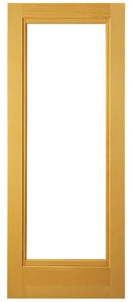 """Bolero Open Pine Door With Screen, 24""""x85""""."""