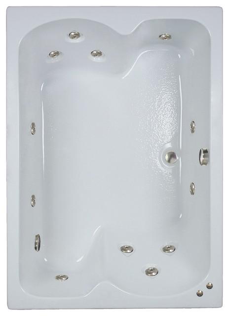 60L x 43W White Airbath by Watertech Bath Products