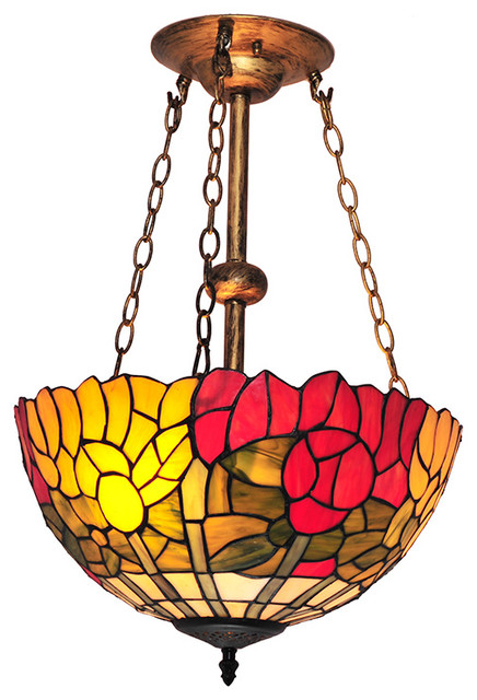 Victorian Style Stained Glass Chandeliers