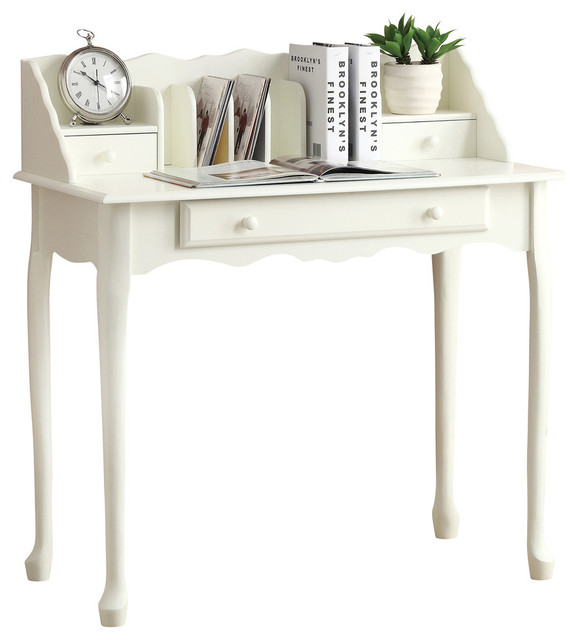 Desk 36L Antique White Traditional Traditional Desks And