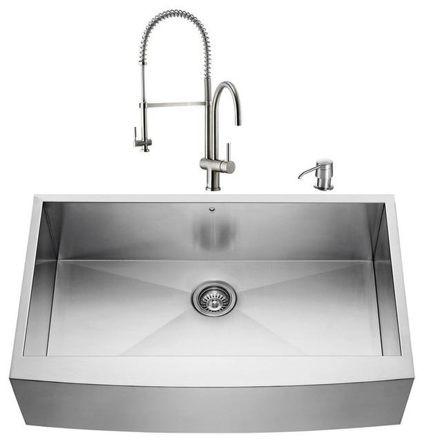 """VIGO All in e 30"""" Farmhouse Stainless Steel Kitchen Sink"""