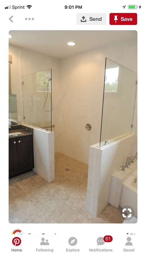 Small master bathroom remodel on waterfall shower design, ada shower design, zero entry bathtubs, zero barrier shower, zero threshold shower, zero entry spa,