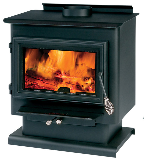 Wood Stove, With Legs And Pedestal, 1200-1800 Sq Ft., Blower Included.