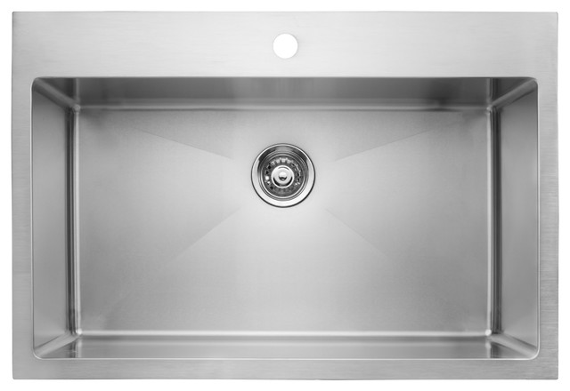 Master Chef Versailles Single Bowl Top Mount Stainless Steel Culinary Sink