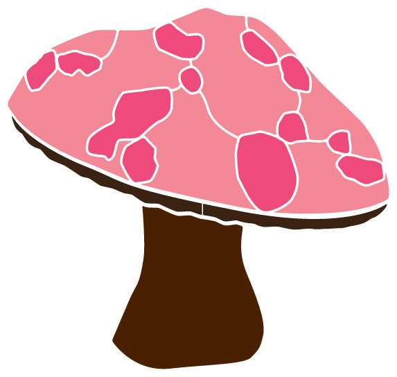 Large Mushroom Stencil 2 for Painting - Contemporary - Wall ...