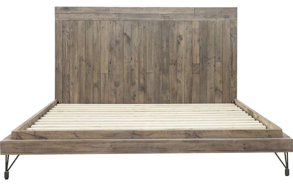 Awe Inspiring Moes Home Boneta Platform Bed Brown Caraccident5 Cool Chair Designs And Ideas Caraccident5Info