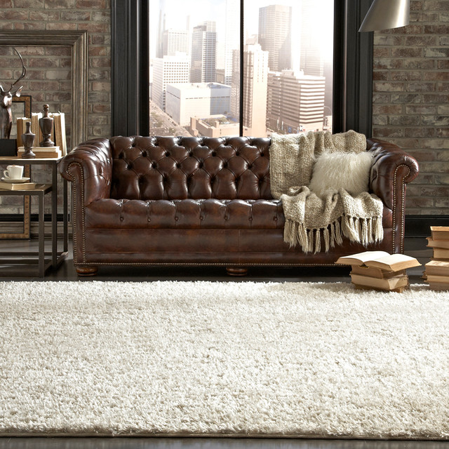 Mohawk Home Shimmer Shag Pearl Rug Traditional Rugs