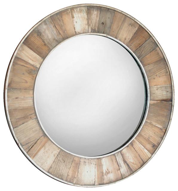 renewed dcor herringbone reclaimed wood mirror in 20 colors