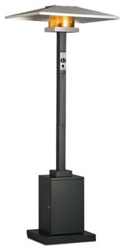 Dayva Premier Outdoor Patio Heater, 40,000 Btu&x27;s, Propane, Hammered Black.