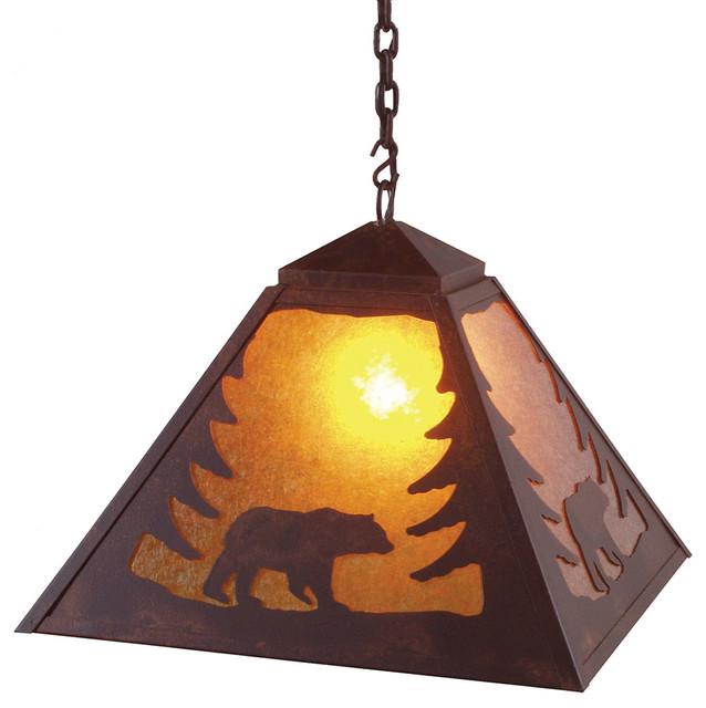 rustic pendant lighting. Swag Pendant Light, Bear Rustic Lighting