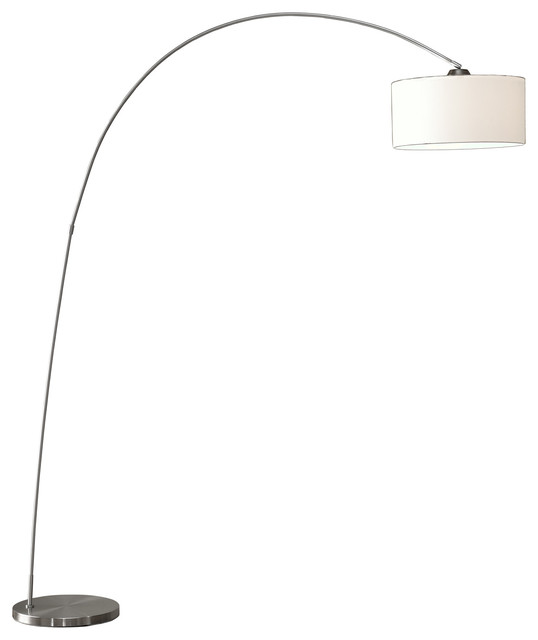 Adelina Arched Brushed Steel Floor Lamp.
