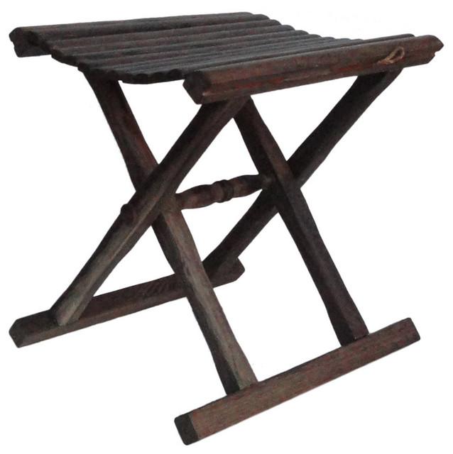 Swell Chinese Handmade Small Wood Folding Stool Beatyapartments Chair Design Images Beatyapartmentscom