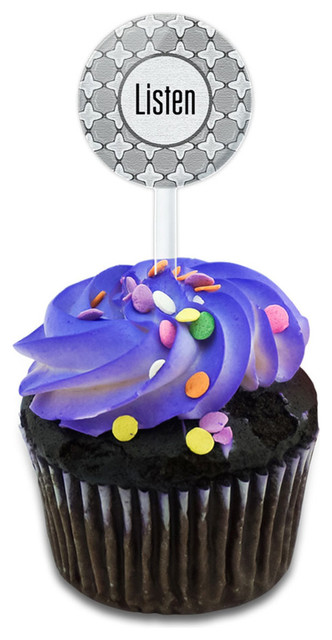 Listen And You Might Hear Cupcake Toppers Picks Set.