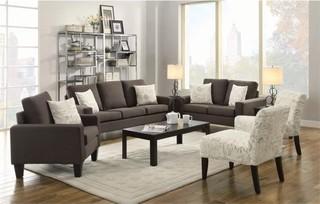 Coaster Bachman 3-Piece Linen Sofa Set, Gray