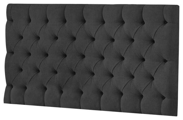 Reeth Linen Floorstanding Headboard, Charcoal, 91 cm