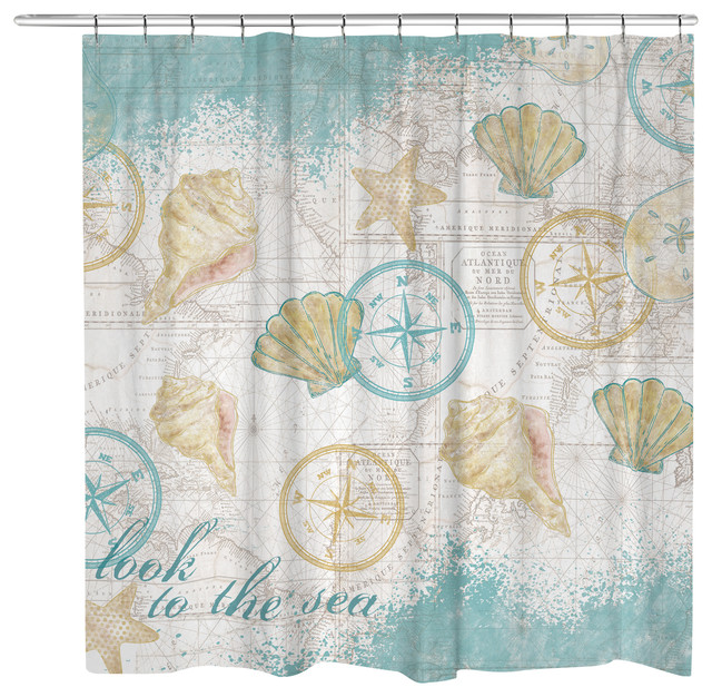 Look to the Sea Shower Curtain - Beach Style - Shower Curtains ...