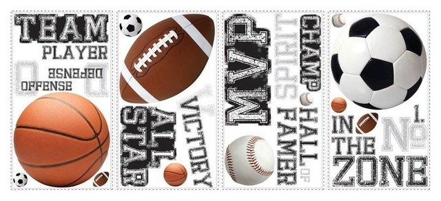 All Star Sports Sayings Wall Decals.