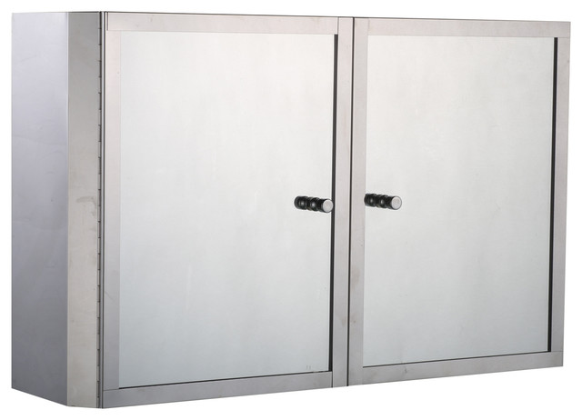 20x12 Stainless Steel Double Door Bathroom Mirror/medicine Wall Cabinet.