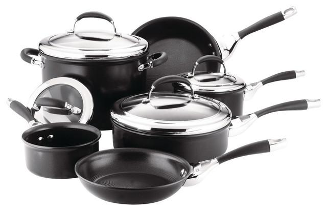 Elite Hard Anodized 10-Piece Cookware Set.