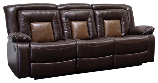 Brookshire Chocolate Brown Reclining Living Room Set, Sofa Only