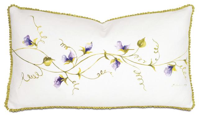 Purple Vine Hand-Painted Pillow.