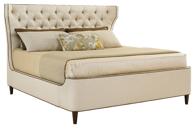Lexington Macarthur Park Mulholland Upholstered Platform Bed, King.