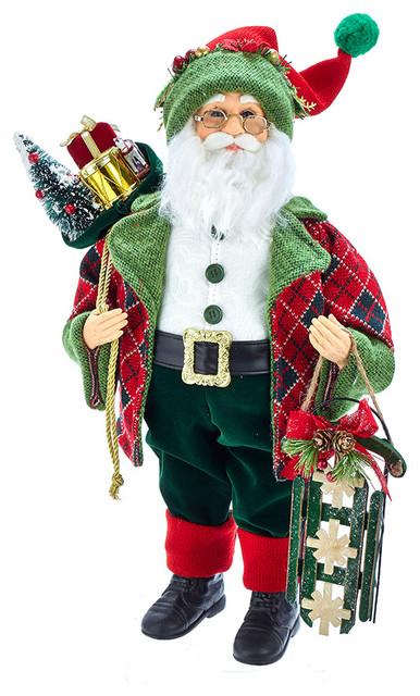 """18"""" Kringle Klaus Red and Green Santa"""