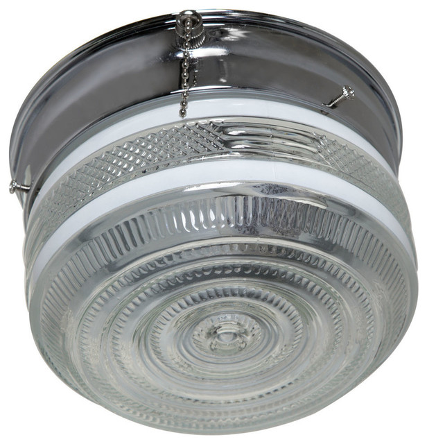 Boston Harbor Ceiling Light Fixture, Polished Chorme.