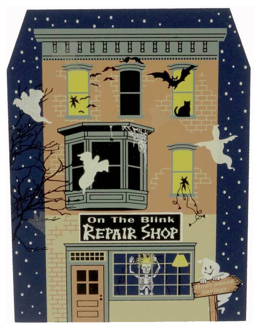 Cats meow on the brink repair shop keepsake outdoor for Cat outdoor christmas decorations