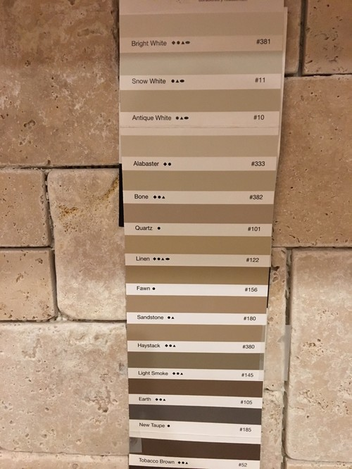 Floor Grout Color Chart Carpet Vidalondon
