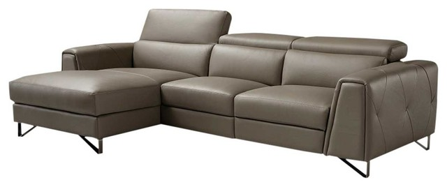Magic Reclining Leather Sectional Sofa