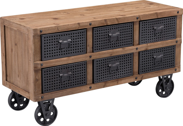 Zuomod green cabinet natural pine and industrial gray storage cabinets houzz - Green kitchen cabinets storage ...